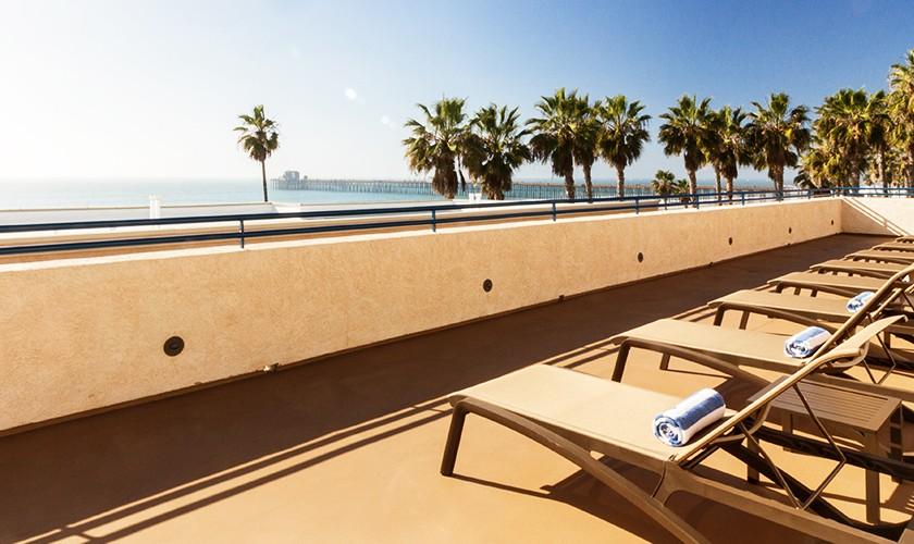 Southern California Beach Club side view